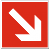 Pictogram din f002 direction down right 1